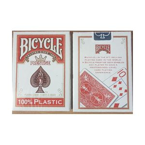 קלפים 348 bicycle plastic red